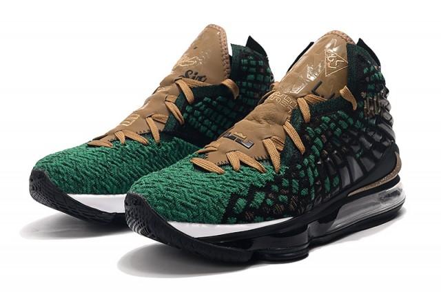 کفش بسکتبال لبرون 17 سبز ارتشی